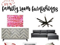 Fun Family Room Furnishings