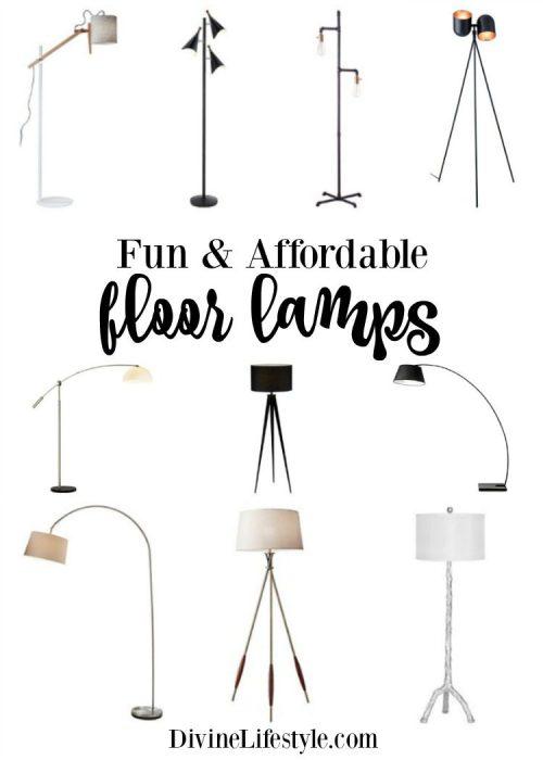 Fun & Affordable Floor Lamps