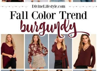 Fall Color Trend: Burgundy