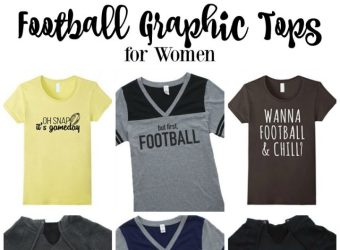 Football Graphic Tops for Women