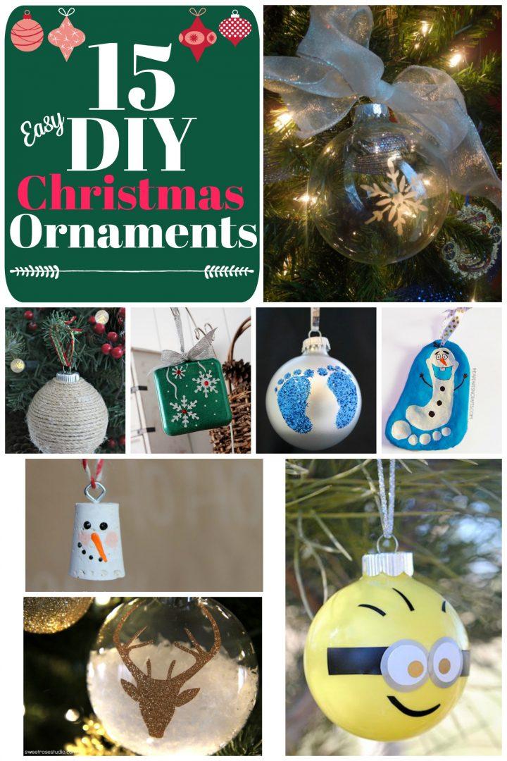 15 Easy DIY Christmas Ornaments