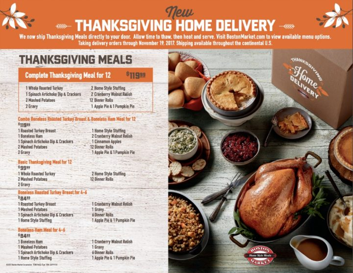 Thanksgiving Delivered from Boston Market 3