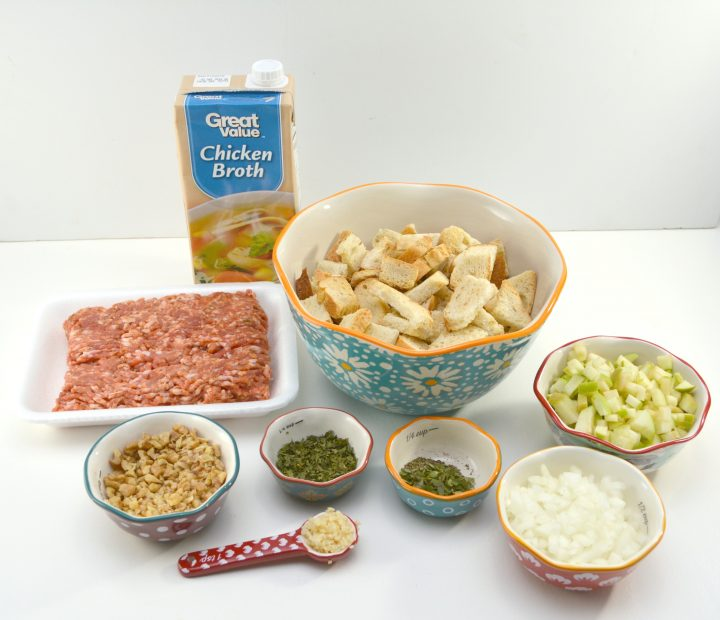 Apple Sage Walnut Stuffing Recipe ~ DivineLifestyle.com