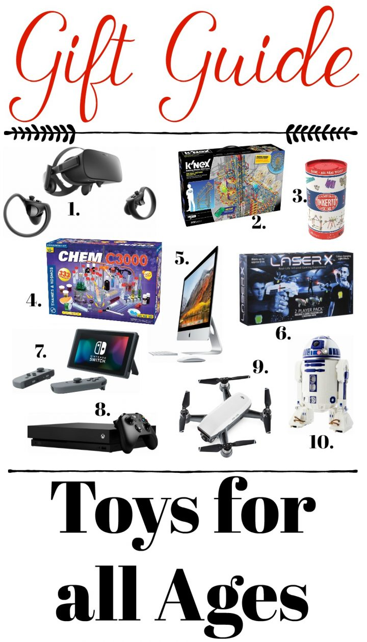 gift guide  toys for all ages nintendo xbox k u0026 39 nex dji laserx