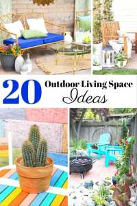 20 DIY Outdoor Living Space Ideas Patio Deck Design