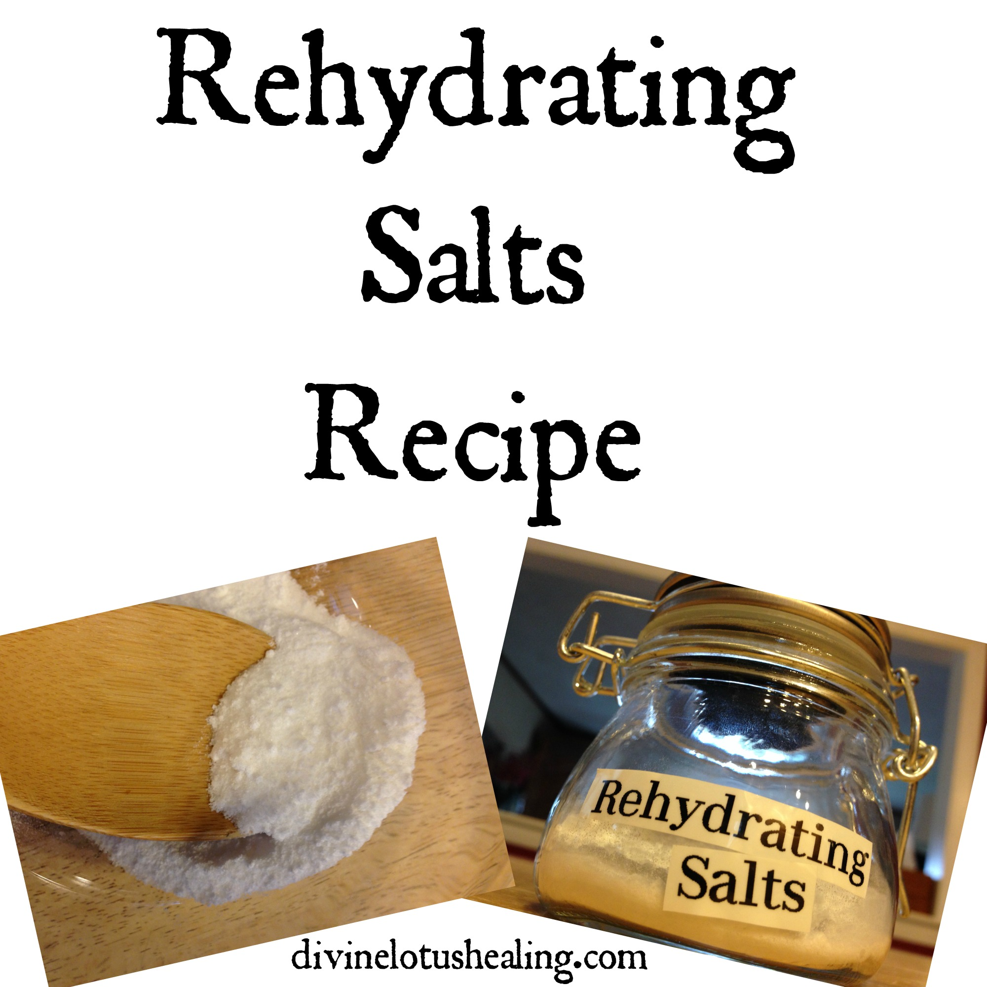 Rehydration Salts Recipe