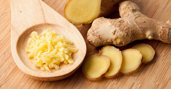 ginger root slices or pulp to impact autoimmune response