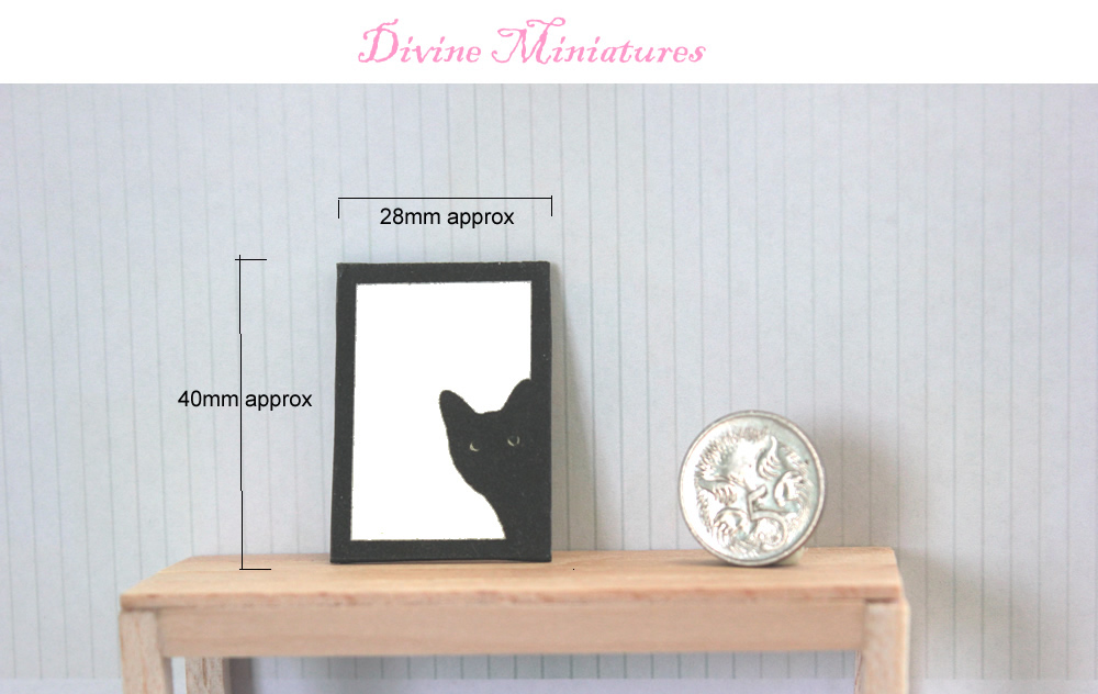 SHORTHAIR CAT  DOLLHOUSE FURNITURE /& MINIATURES
