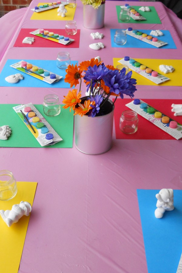 Art Paint Birthday Party Ideas