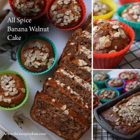 All Spice Banana Walnut Cake
