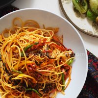 Sweet chili garlic noodles- 10 min recipe