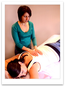 Rita giving Reiki Treatment
