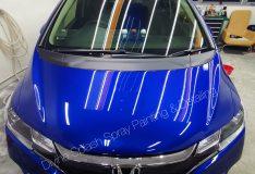 blue honda fit car spray singapore. divinesplash.com car spray painting singapore. car spray sg
