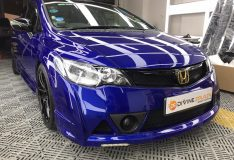 fd2r civic blue. san marino candy blue car spray singapore divinesplash.com divine splash spray painting singapore civic