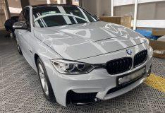 BMW C33 silver pearl m5 bmw car spray painting service divine splash divinesplash.com