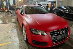 divinesplash. car spray painting matt audi matt red audi a7 divinesplash.com