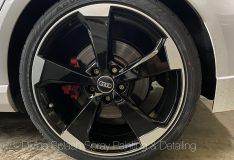 Audi rs3 rim spray glossy black. gloss black rim spray. divinesplash.com car spray singapore divine splash spray painting