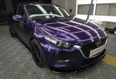Divine splash purple mazda 3 candy purple divinesplash.com car spray singapore purple mazda singapore spray painting service sg. candy purple midnight purple mazda