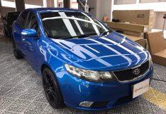 blue kia cerato forte divinesplash.com car spray singapore. best car spray singapore. ppg paint blue cheap car spray sg. divine splash spray review