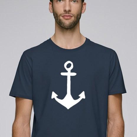 Tee-shirt bleu foncé pour hommes avec le motif Ancre - Diving Reflex