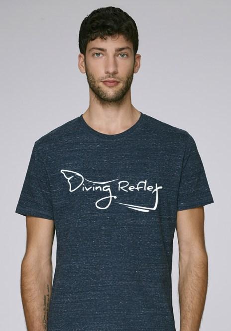 Tee-shirt heather denim pour hommes avec le logo Diving Reflex