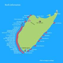 Cozumel Hotel Map Locations