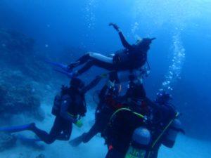 沖縄胴上げ、次男ダイビングPADIライセンスおめでとう!かんちょーしたる。