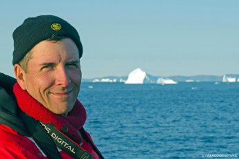 Jeffrey Gallant off the coast of Greenland in 2014. Photo © Françoise Gervais