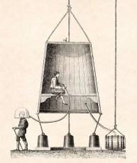 Edmond Halley's diving bell (Public Domain)