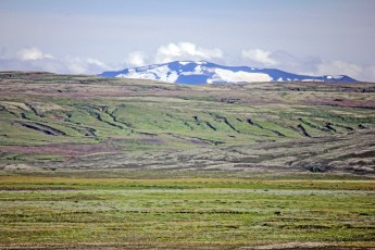 Mount Hekla, seen here from Silfra, is one of Iceland's most active volcanoes. Photo © Jeffrey Gallant | Diving Almanac