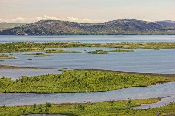 Lake Þingvallavatn seen from the Lögberg. Photo © Jeffrey Gallant | Diving Almanac
