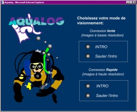 Opening menu of the French edition of Aqualog Magazine. Image © Diving Almanac