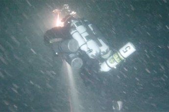 Markku Diedrich during record dive. Video still from YouTube (View below   Fair Use)