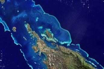 Île Balabio, off the northern tip of Grande Terra, New Caledonia. Photo by NASA (Public Domain)