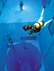 NEMO33, the world's second deepest diving tank. Photo © NEMO33