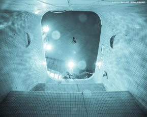 Jeffrey Gallant in the Olympic Stadium Diving Pool in Montréal. Photo © Jeffrey Gallant | Diving Almanac