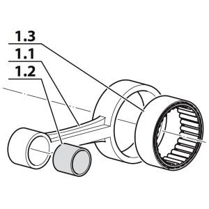 Set bielă treapta a I-a, compresor Coltri MCH 6