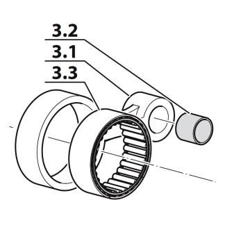 Set bielă treapta a III-a, compresor Coltri MCH 6