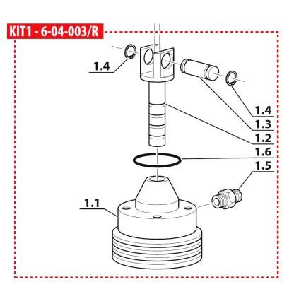 Set piston + cilindru treapta a IV-a, compresor Coltri MCH 6