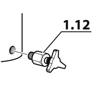 Robinet / purjă condens, compresor Coltri MCH 6