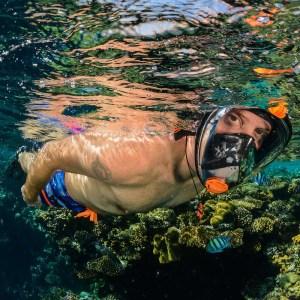 Mască facială snorkeling Ocean Reef Aria QR+