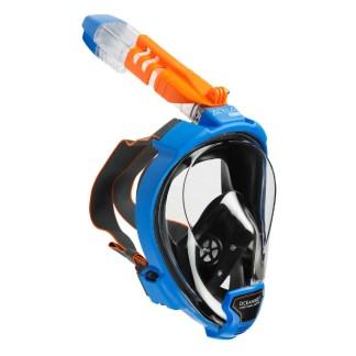 Mască facială snorkeling Ocean Reef Aria QR+, albastru