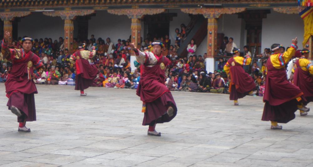 Colourfull Bhutanese festival  (2/2)