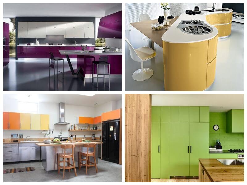 forrar los armarios de la cocina con vinilo de colores vibrantes