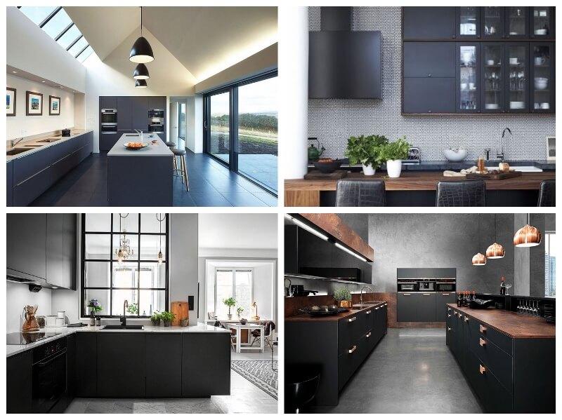 forrar armarios de cocina con vinilo adhesivo de color negro u oscuro