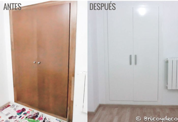 Forrar el armario con vinilo ventajas e inconvenientes for Pintar puertas interiores