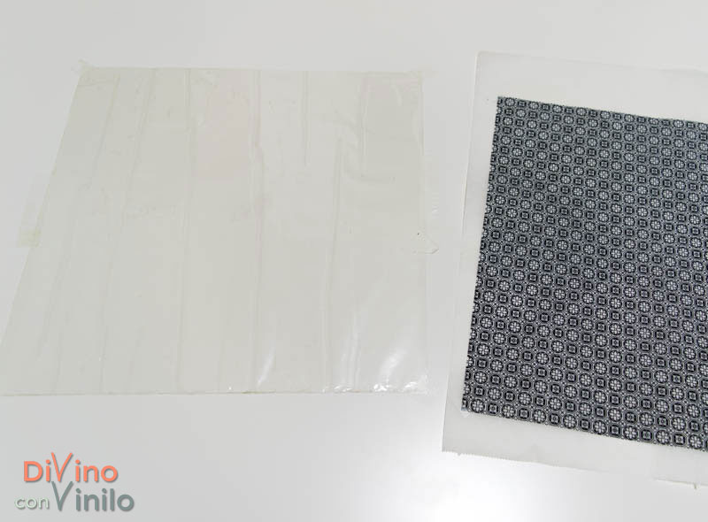 decoupage fácil con lámina adhesiva de doble cara