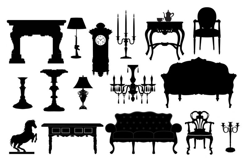 silueta muebles vintage