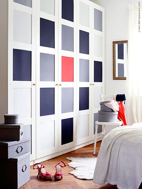 forrar puertas de los armarios con vinilos de colores