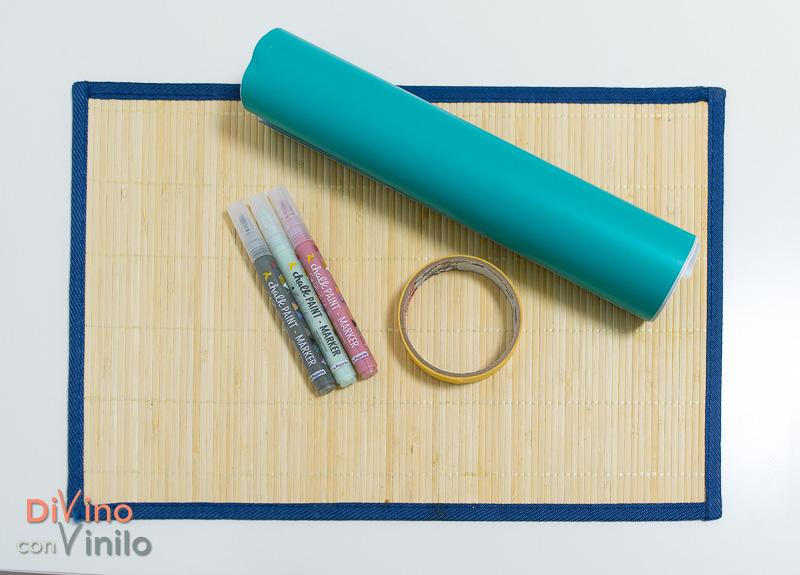cómo hacer una plantilla de vinilo para personalizar un mantel